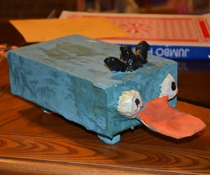 Papier Mache Perry the Platypus