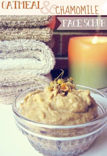 DIY: Oatmeal and Chamomile Face Scrub