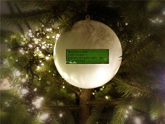 The Tweetball: a Christmas Ornament Ball That Shows Your Friends' Twitter Wishes