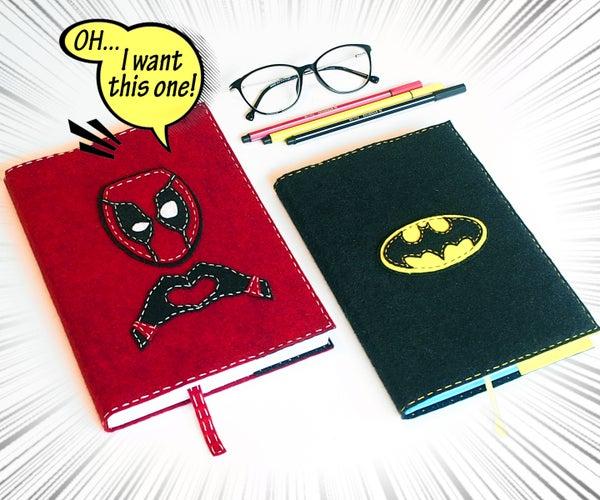 Felt Book Cover Deadpool & Batman