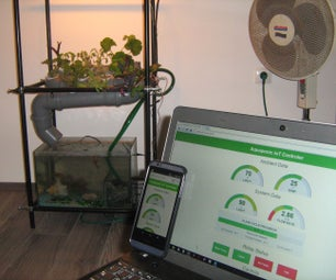 IoT NFT Aquaponic System Controler With WebApp (Intel Edison & Node.js)
