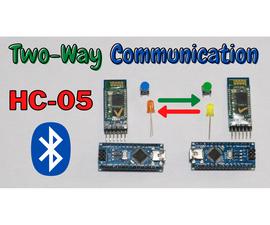 Arduino Two Way Communication Via Bluetooth (HC-05)
