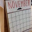 Reusable Fiberboard Calendar