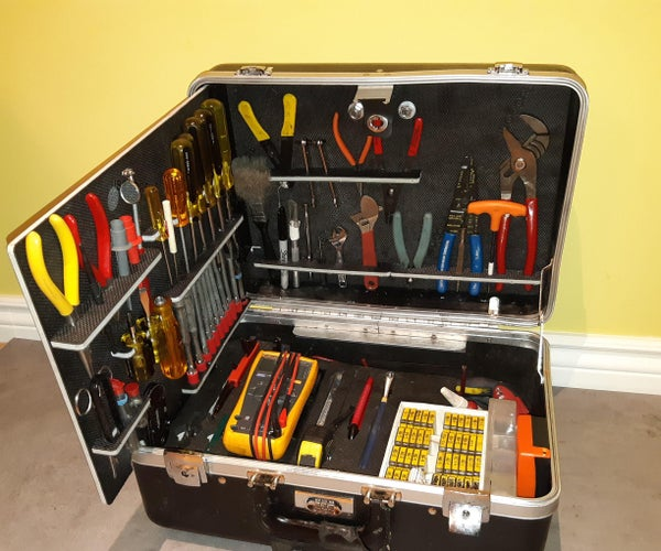 Screwdriver and Plier Tool Holder Pockets Cut on CNC