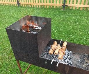 醉猪食谱。在火上煮肉。