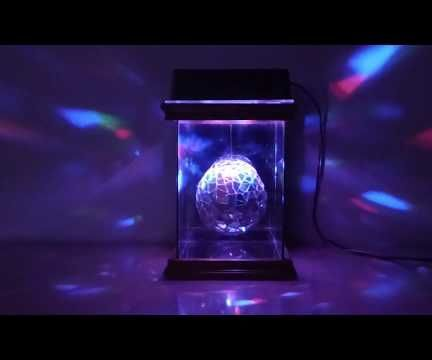 Mosaic Glitter Ball With Color LEDs
