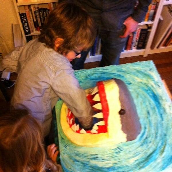 Great White Shark Attack Playable Birthday Cake