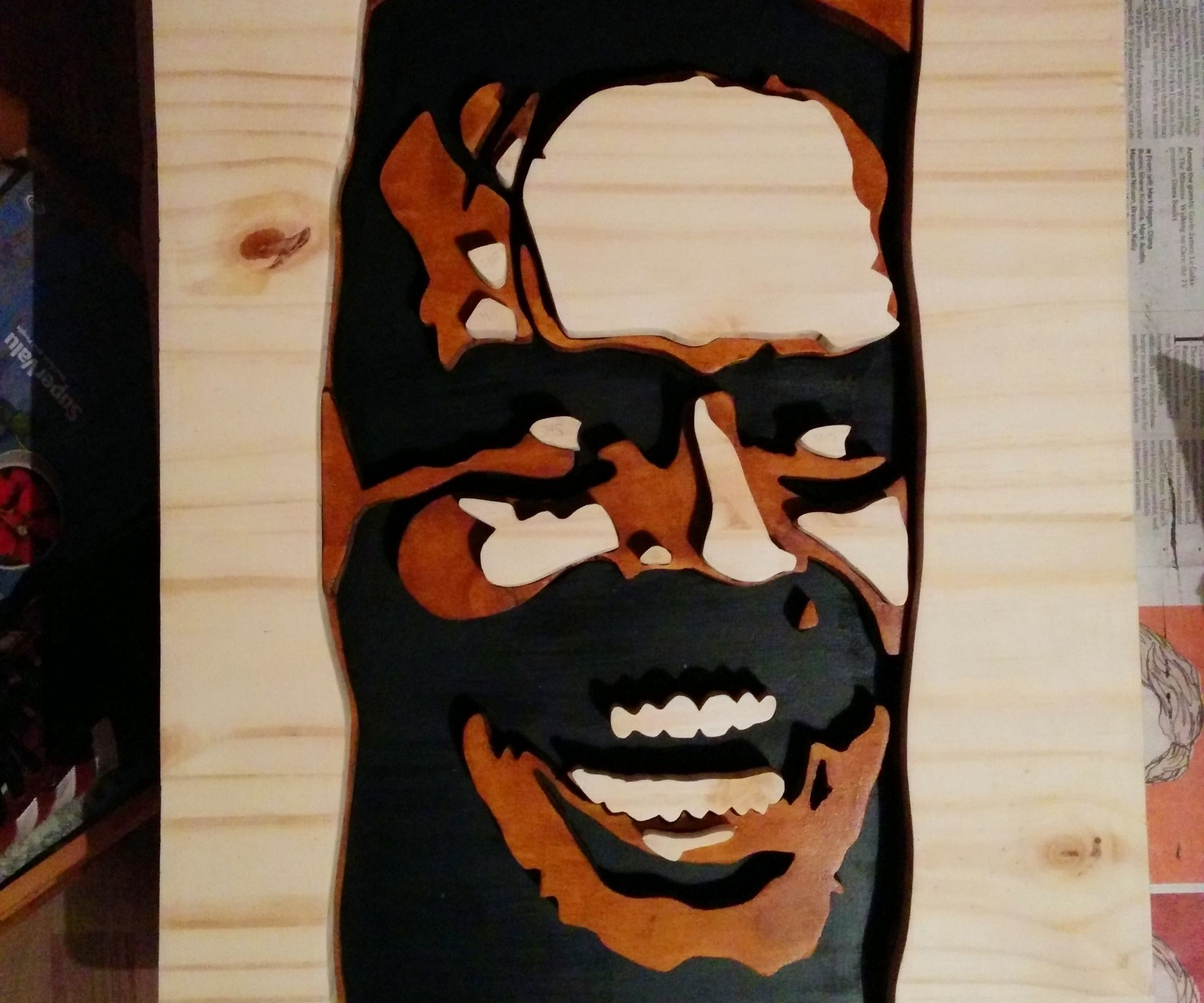 3D Wooden Portrait