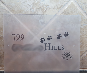 Printable House/Mailbox Number