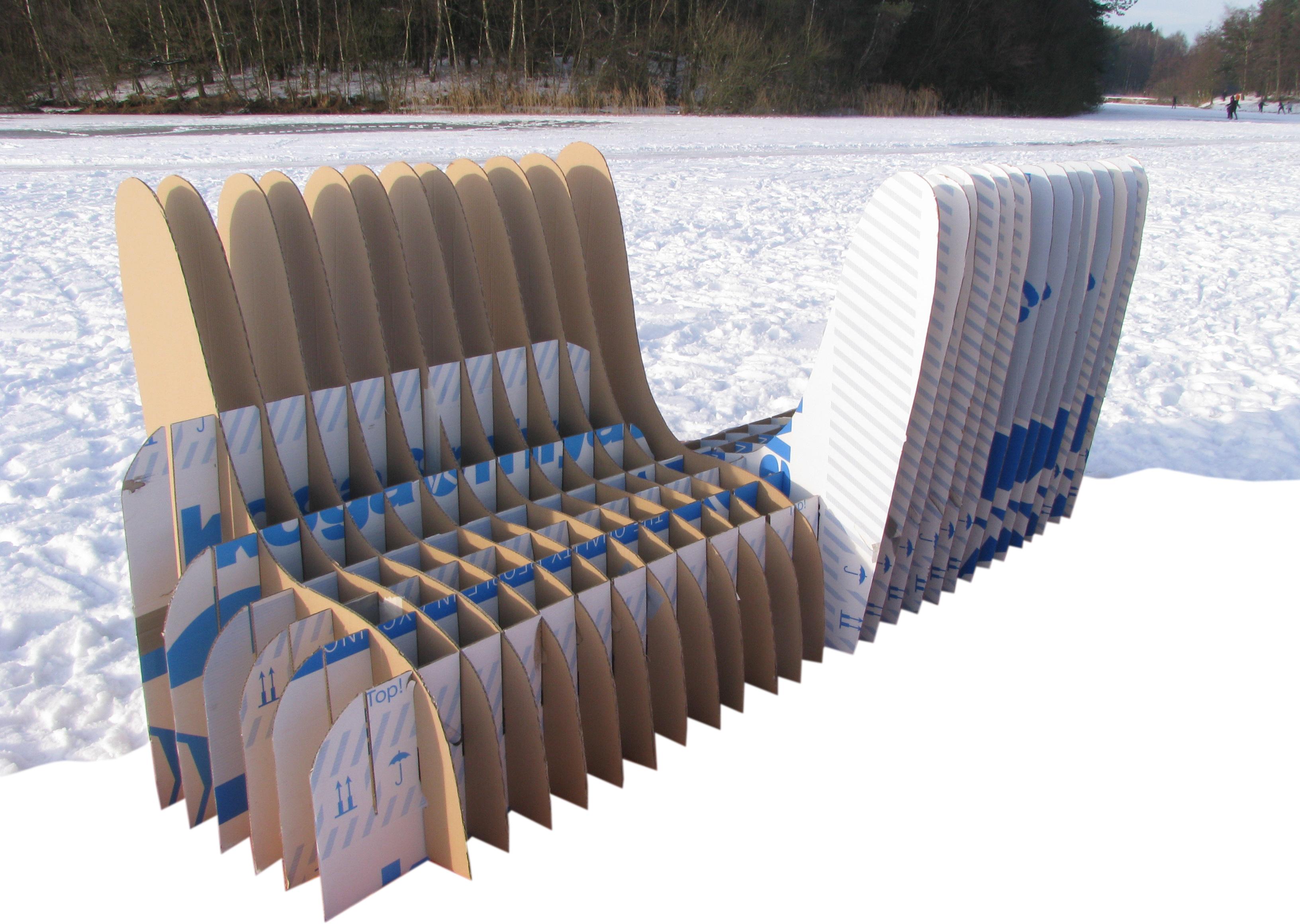 Cardboard bench...