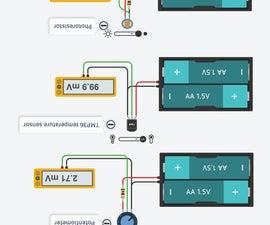 Choose Sensor Substitutes in Tinkercad Circuits