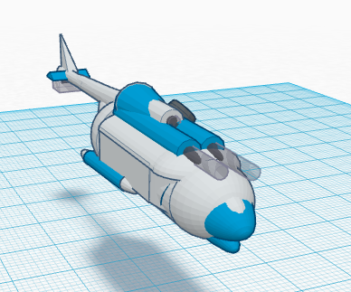 Helicopter 3d Modeling and Printing