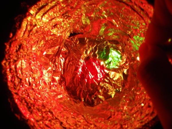 Make a Nightlight Reflection Diffuser With FOIL