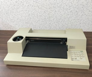 Modifying an Old HP7475a Plotter to Work Over USB