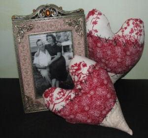 Vintage Heart Pillow