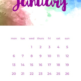Create a Printable Calendar on Illustrator