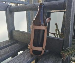 皮瓶或罐装皮套