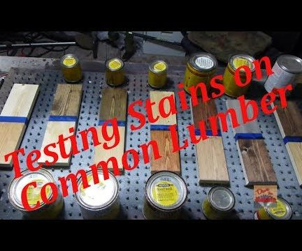 Testing Stains on Common Lumber