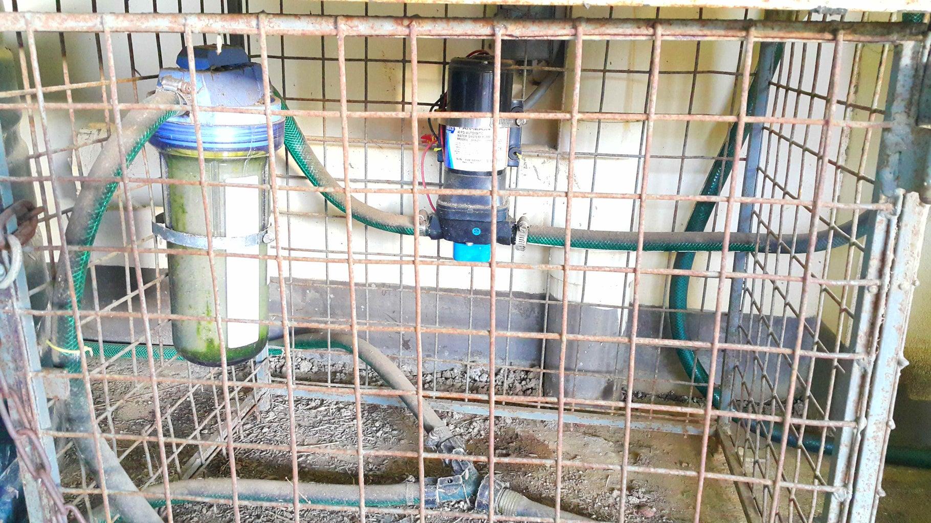 Replacing a Water Pump Filter Element.