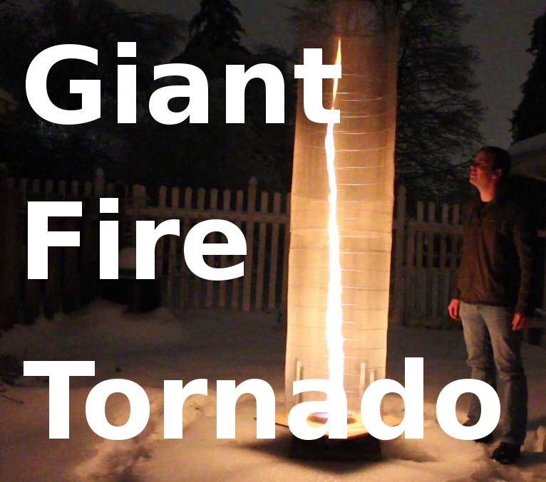 Build a GIANT Fire Tornado!
