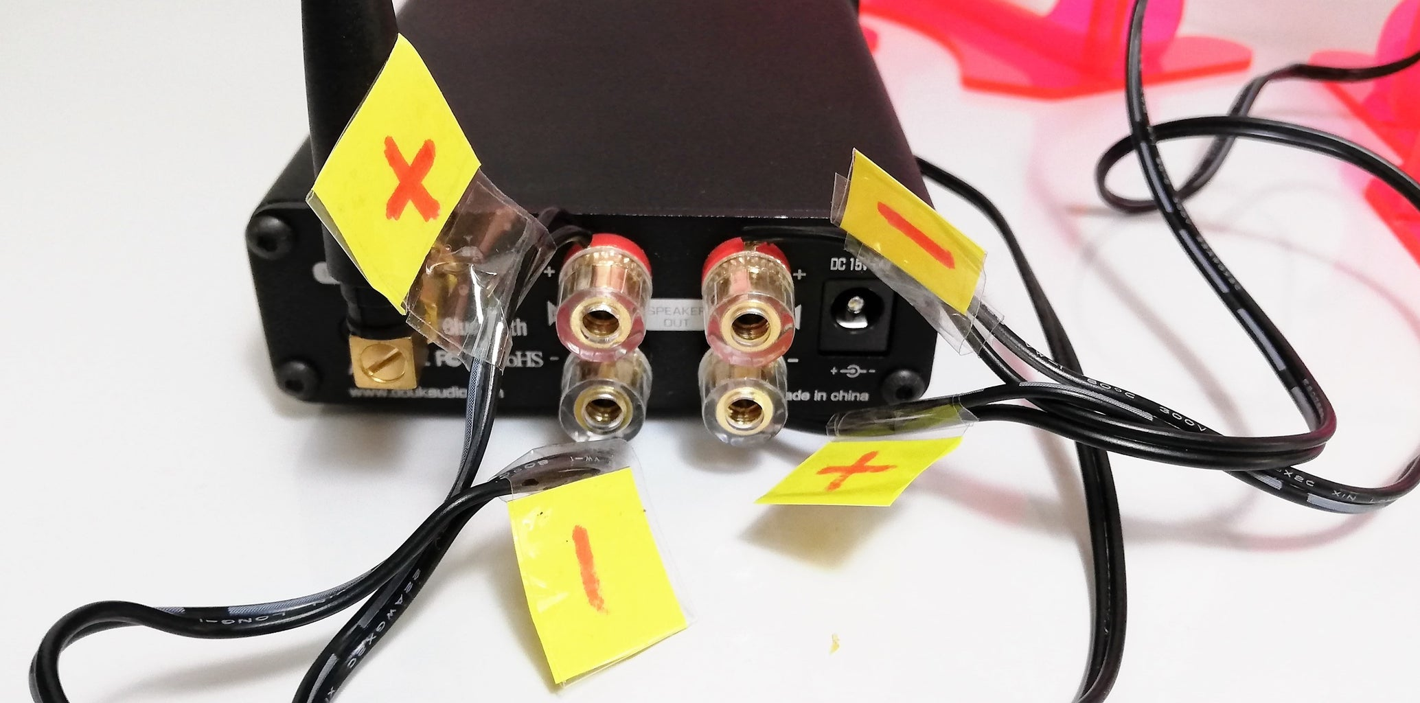 CONNECTING TO THE AMPLIFIER