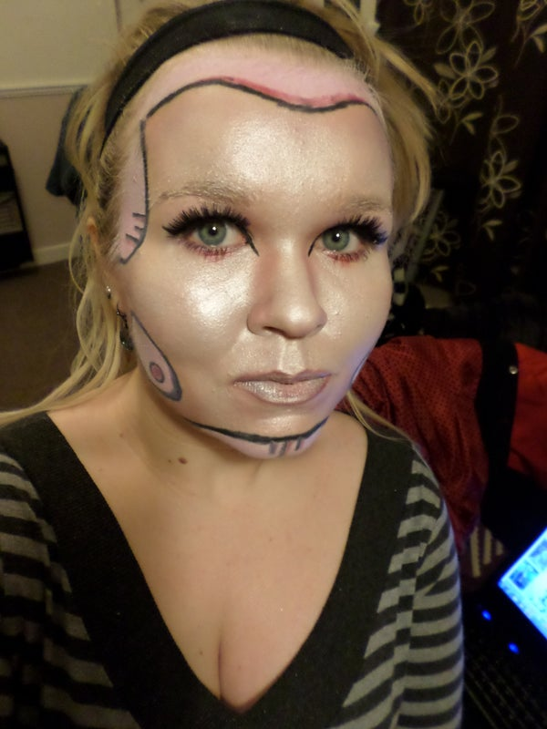 Valentines Android - Robot Makeup TUTORIAL