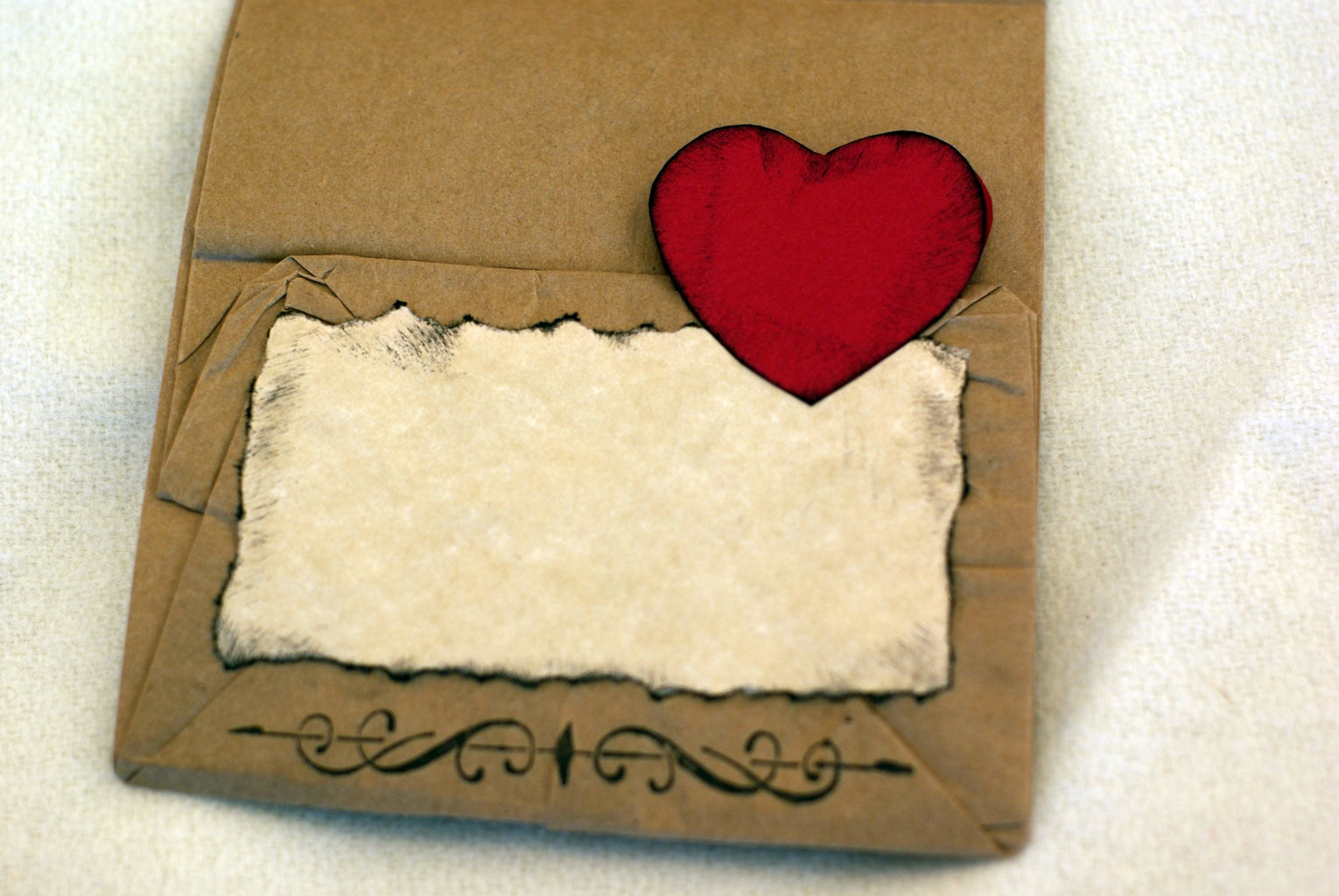 Decorate and Apply Cardstock Hearts
