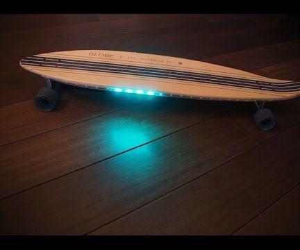 Longboard with NeoPixel LEDStrip reacting to speed