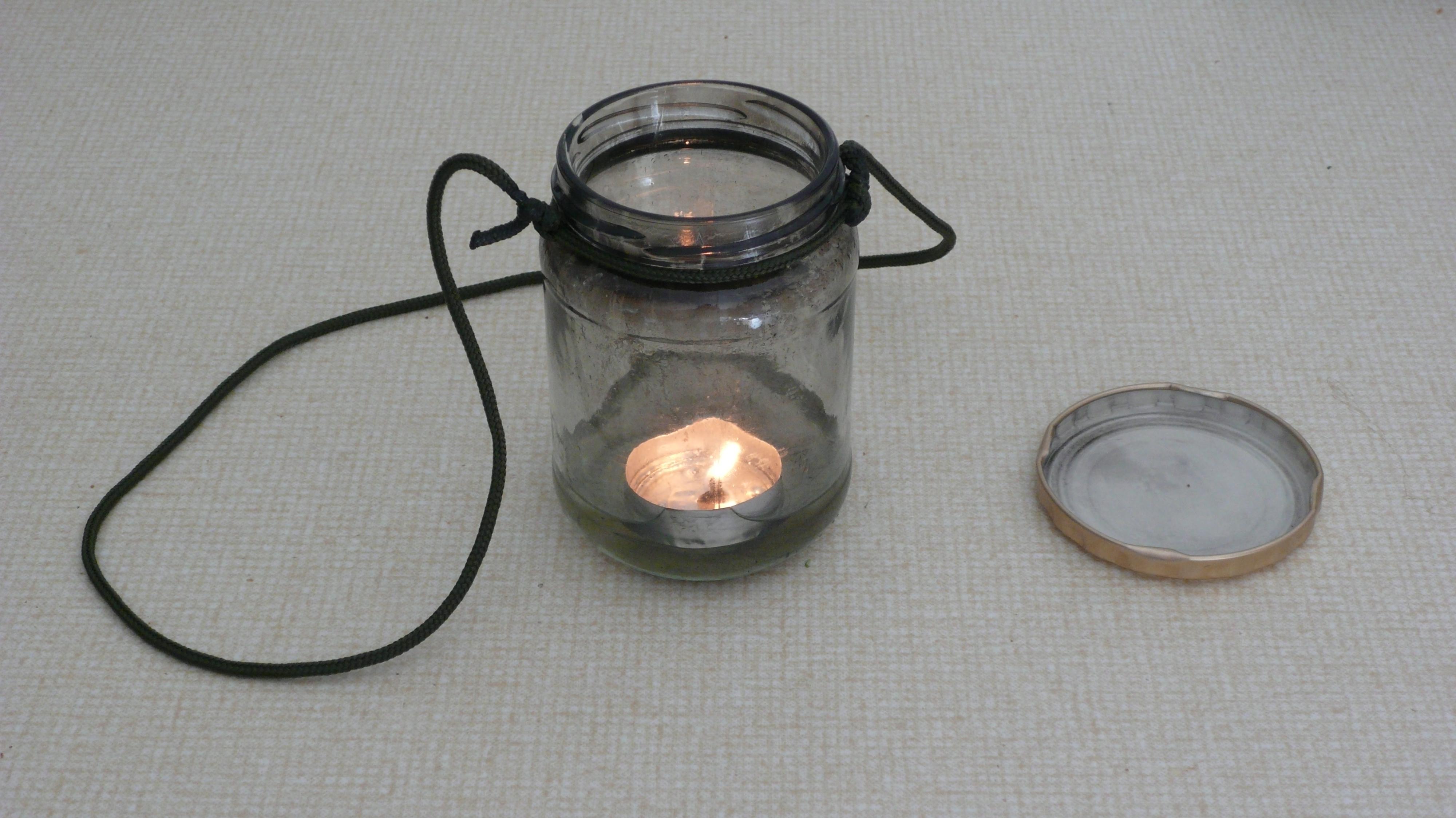 Hangable Jam Jar Oil Lamp