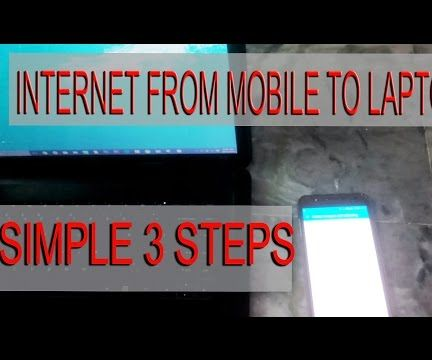 How to Connect Internet From Mobile to Laptop ?