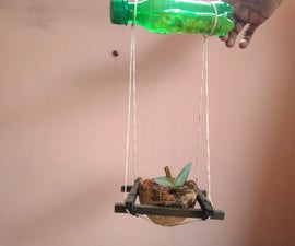 Coconut Shell Hanging Planter With Water Supply