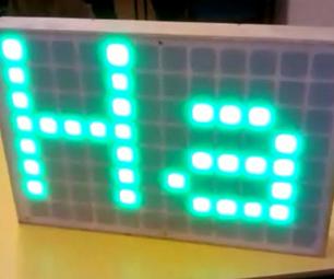 Large Scrolling LED Display