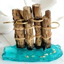 Driftwood and Epoxy Tooth Brush Holder