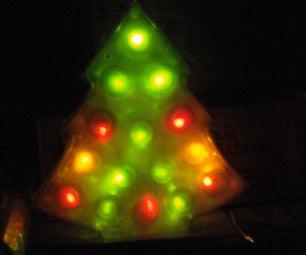 LED Christmas Tree Lamp...from a Ferrero Chocolate Box!
