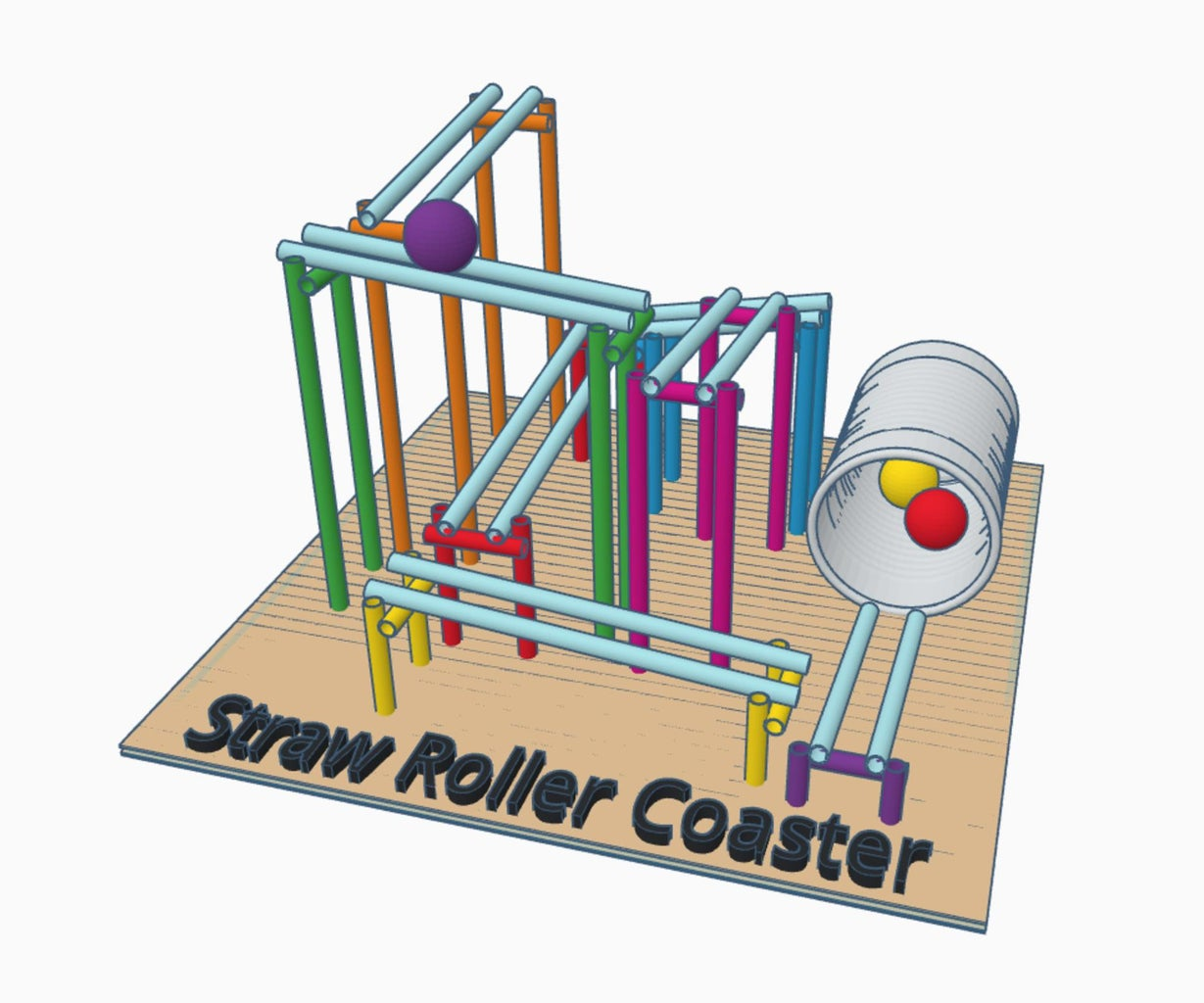 Design a Straw Roller Coaster Using Tinkercad