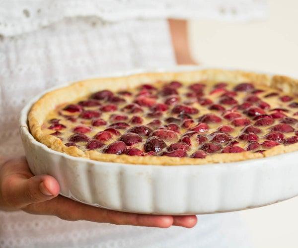 Custard Cherry Tart