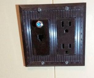DIY Custom Electric Switch Wall Plate