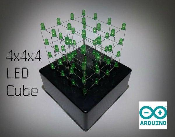 4x4x4 LED Cube (Arduino Uno)