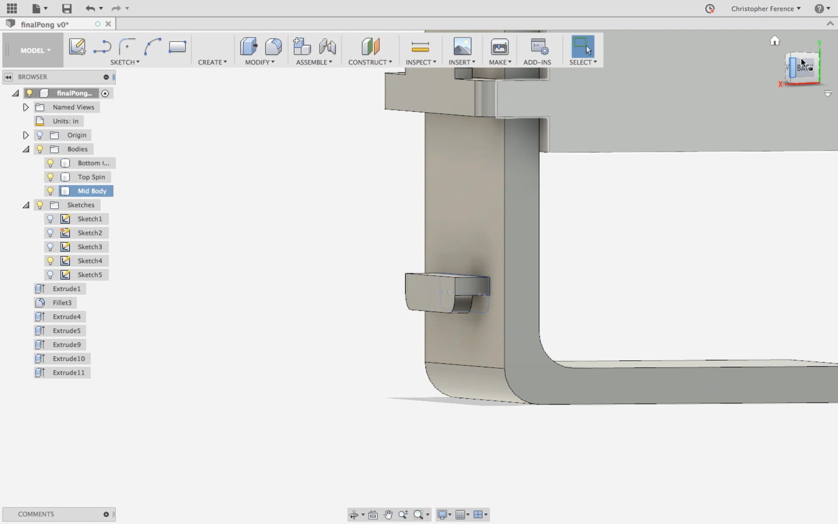Add Slot for Clamp & Make Handle