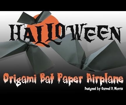 How to Fold an Origami Halloween Bat that Flies