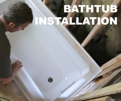 How to Install a Bathtub (make It ROCK SOLID)