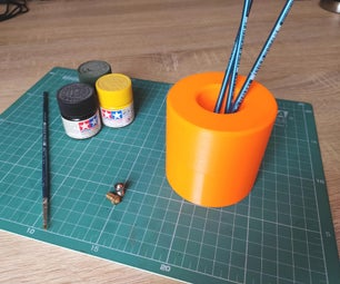 Parametric Spill Proof Cup for Brushes Etc.