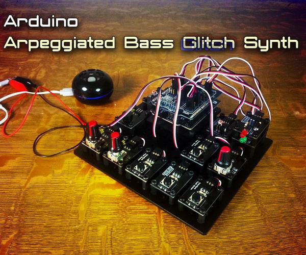 Arduino Arpeggiated Bass Glitch Synth Electronic Instrument