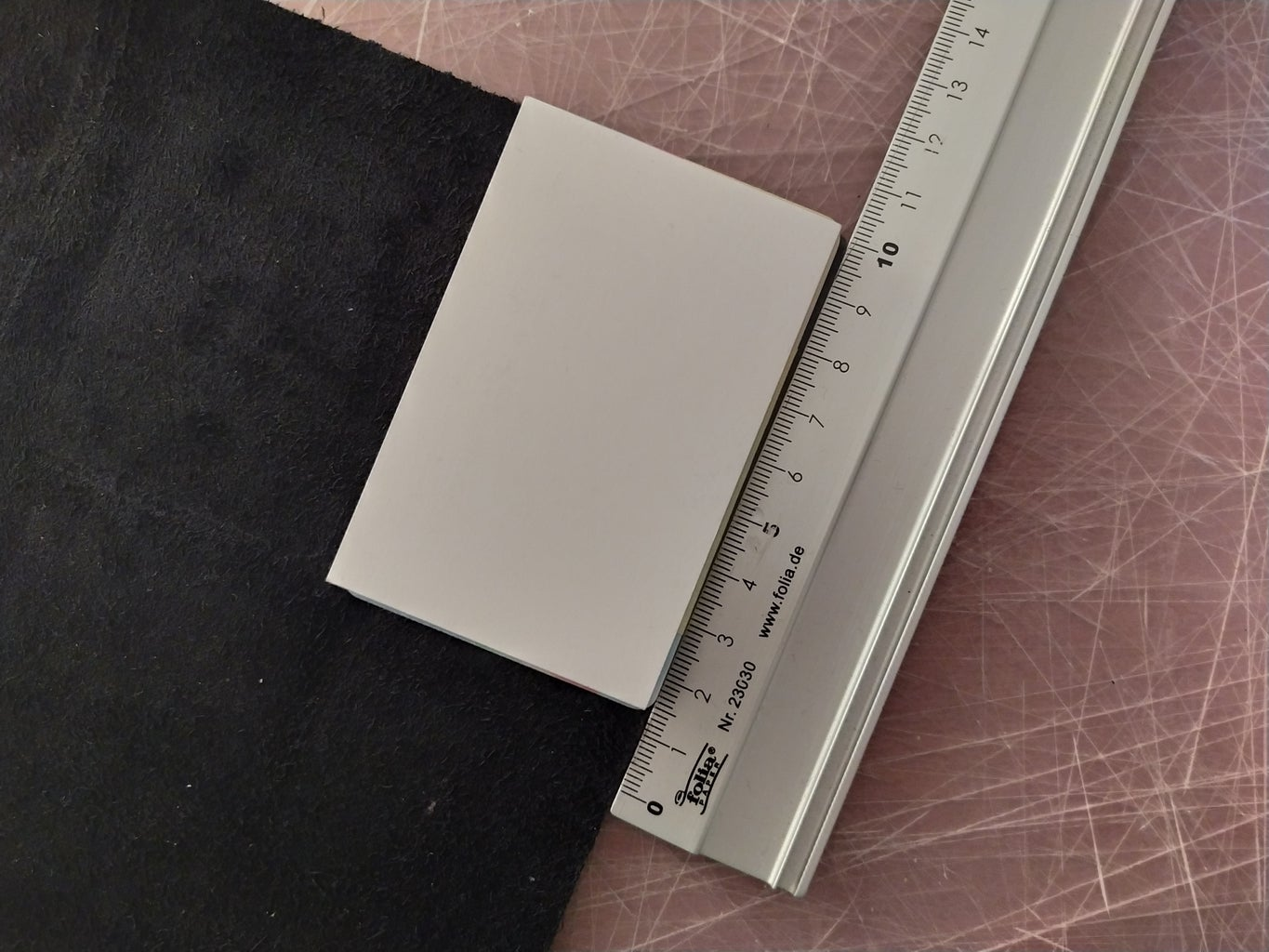 Measuring the Leather for Cutting