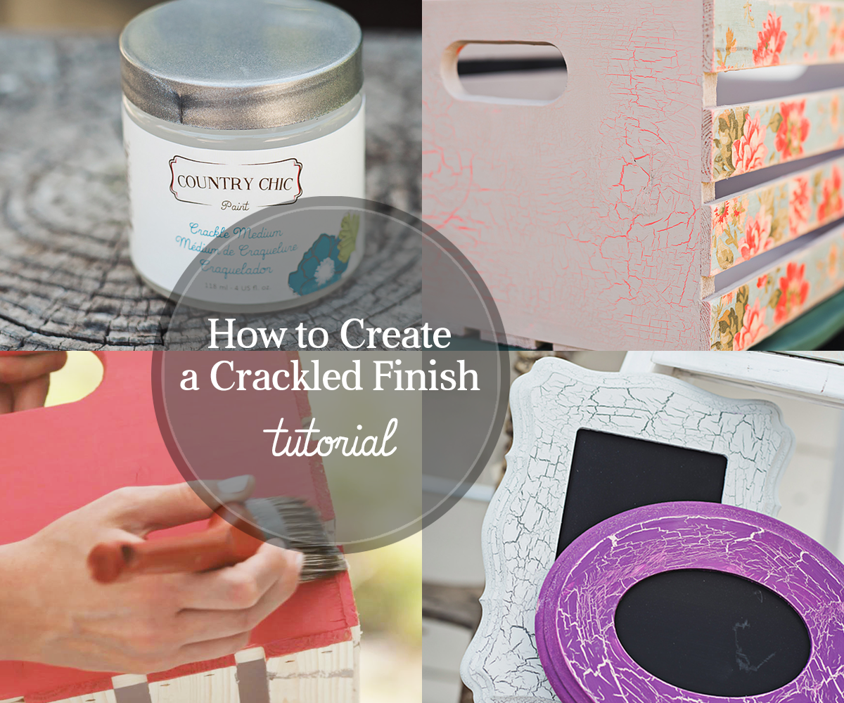 How To Give Your Furniture a Crackle Finish