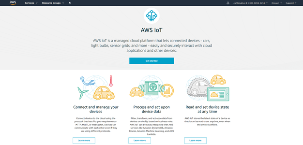 """Getting Started With AWS IOT """"things"""""""