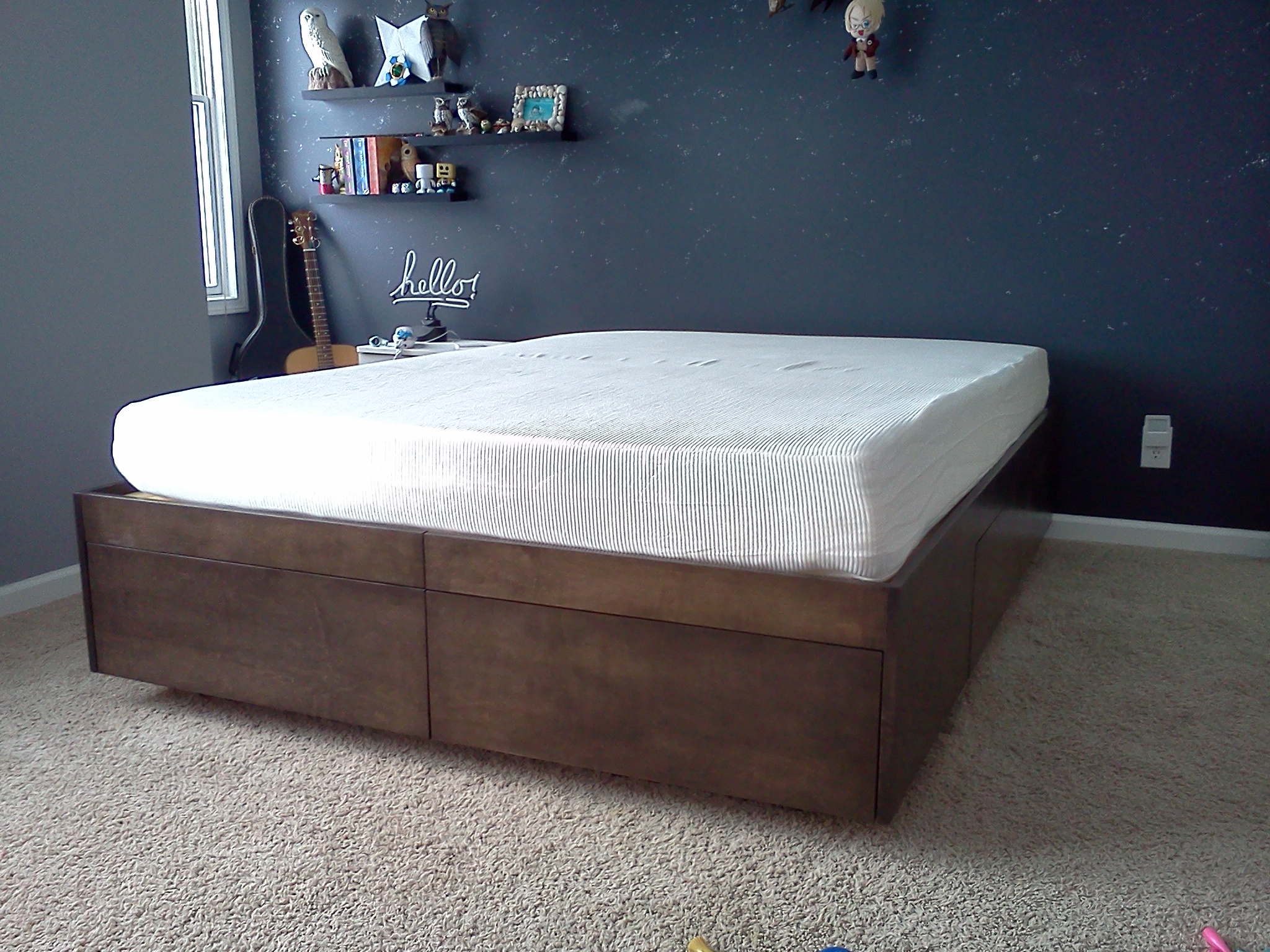 Image of: Platform Bed With Drawers 8 Steps With Pictures Instructables