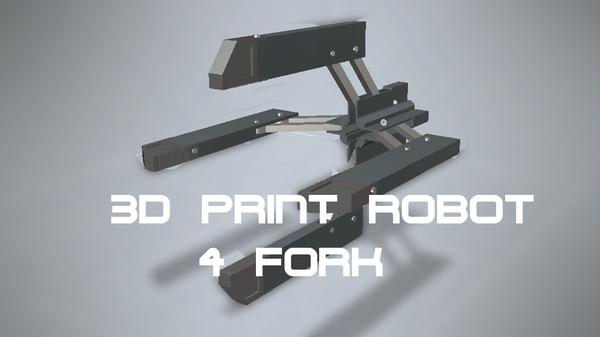 3D PRINT 4 Fork Robot Arm ( FULL TUTORIAL )