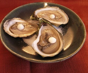 Oysters With Spicy Lemon Pearls,  Reverse Spherification