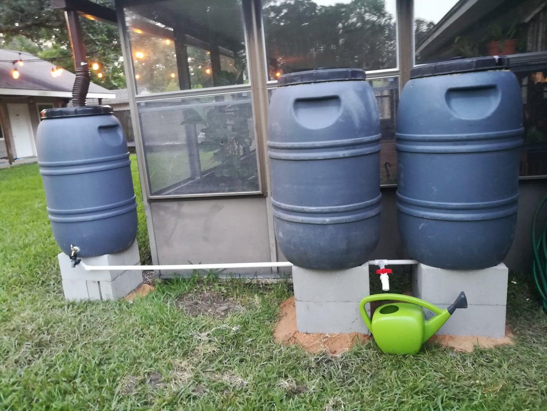 Manifold Rain Barrels